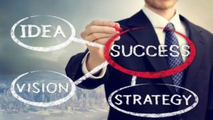 Businessman Circling Success