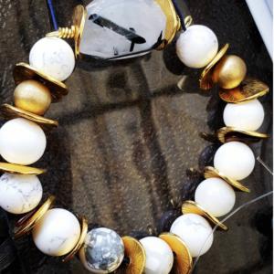 Rejuvenate – Tourmulated Quartz and Howlite Bracelet